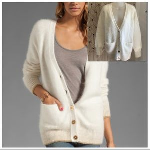Juicy Couture Angora Cardigan Sweater sz L EUC